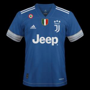 Juventus 2021 maillot exterieur bleu