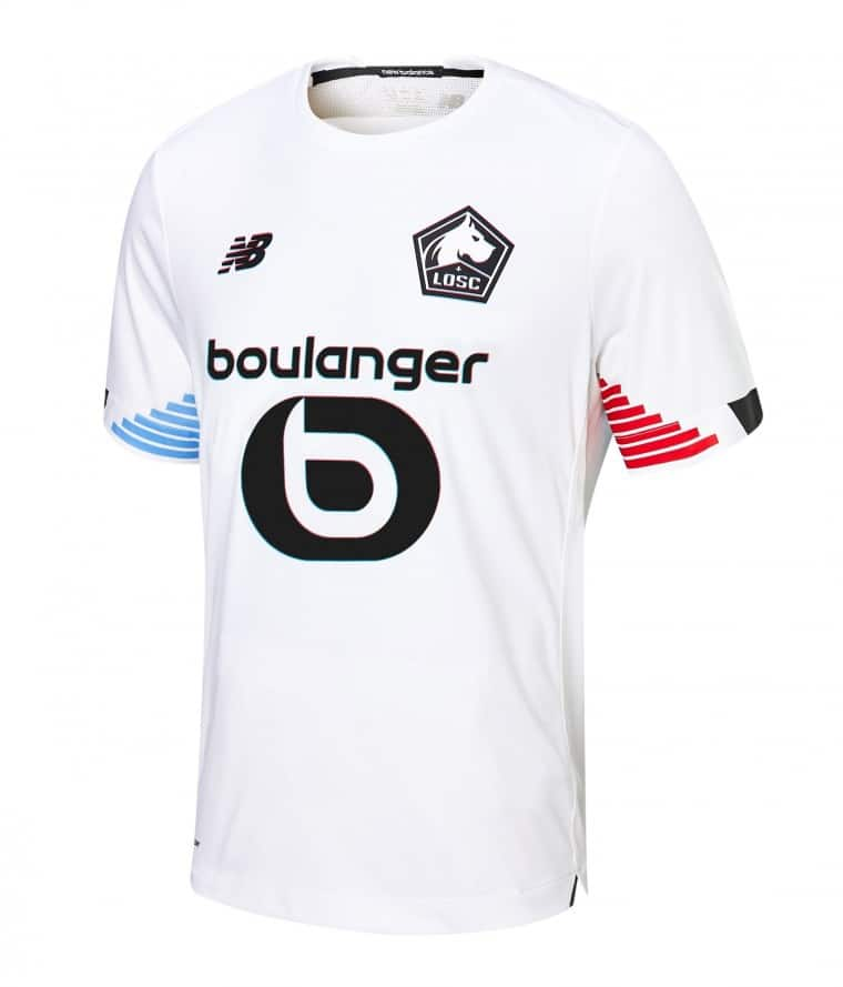 LOSC 2021 troisieme maillot third foot officiel blanc