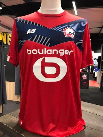 Lille 2021 nouveau maillot de foot domicile LOSC