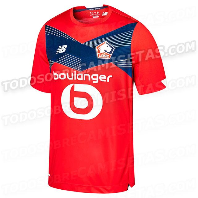 Lille 2021 nouveau maillot domicile foot LOSC
