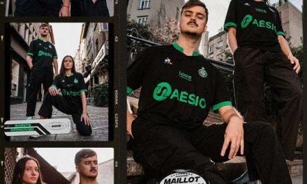 ASSE 2021 les nouveaux maillots avec Le Coq Sportif