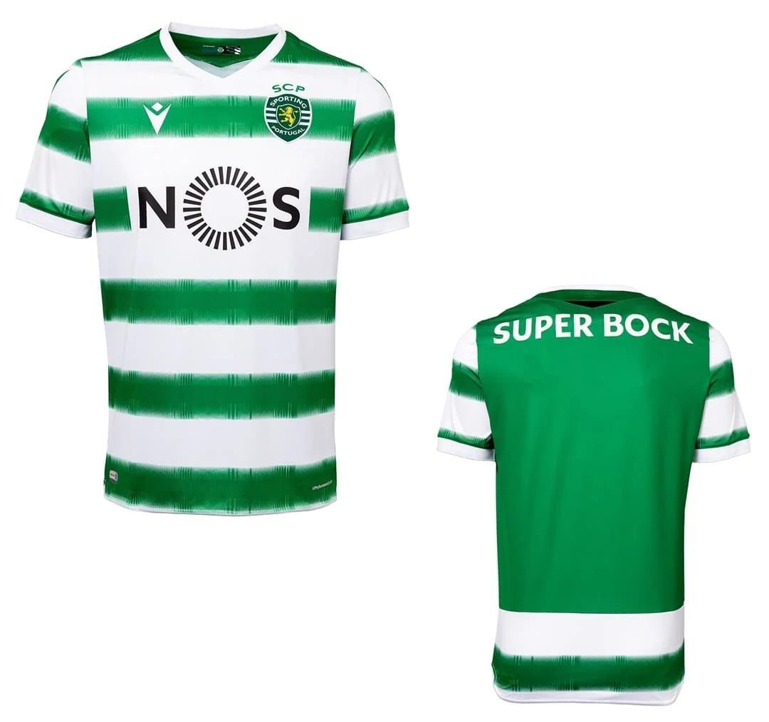 Sporting 2020 2021 maillot domicile