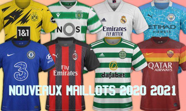 Nouveaux maillots de football 2020/2021