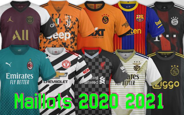 nouveaux maillots de football 2020-2021