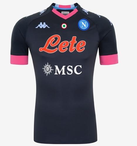 Naples 2021 maillot foot third Kappa noir