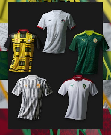 Maillots de foot Puma 2020 equipes africaines