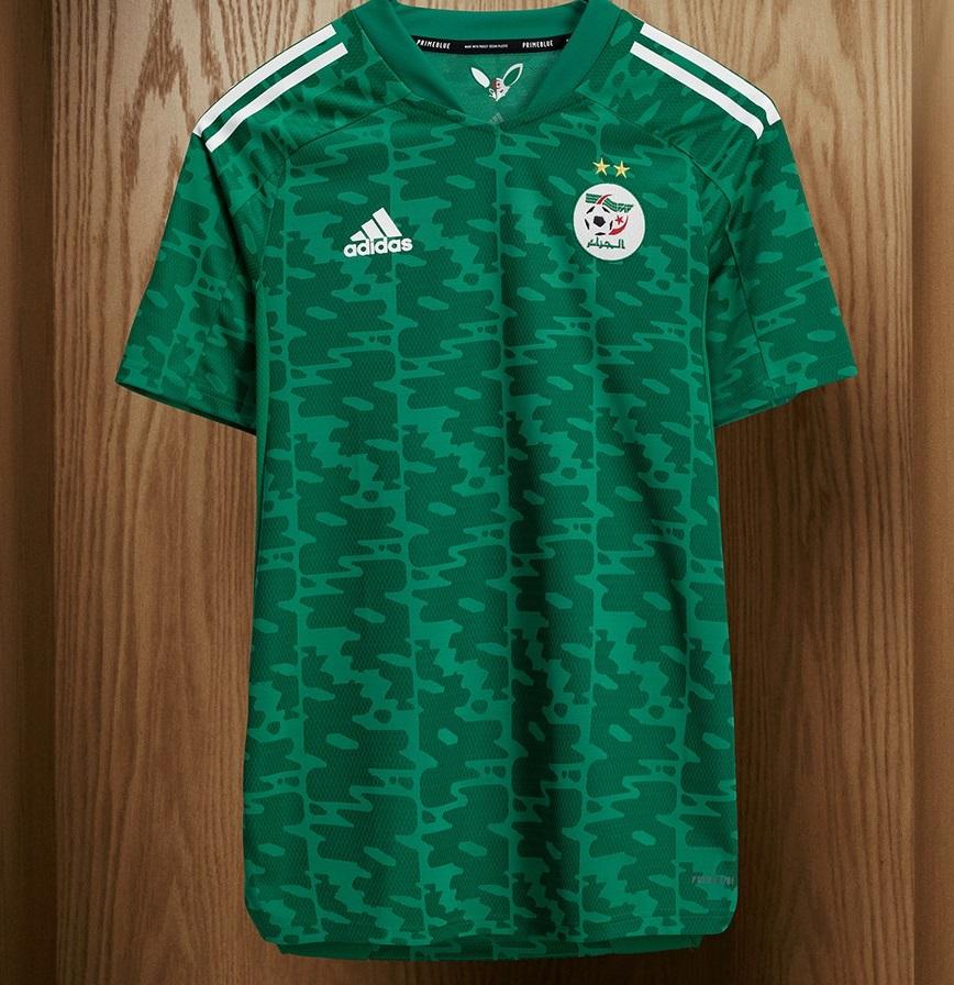 Algerie 2021 maillot exterieur Adidas col Fennec foot