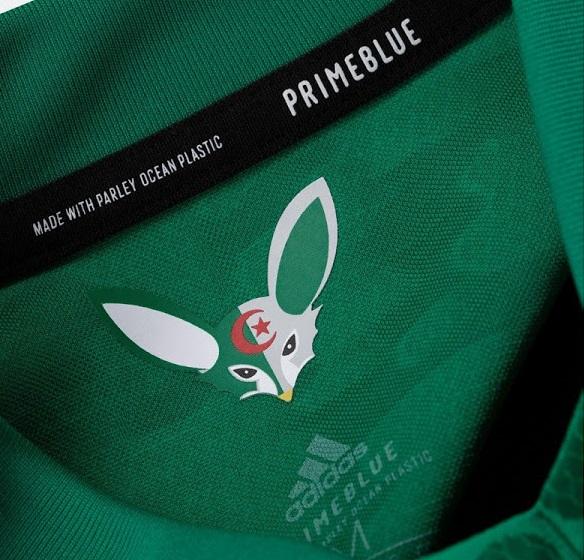 Algerie 2021 maillot exterieur Adidas col Fennec