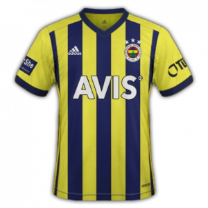 Fenerbahce 2021 maillot domicile foot