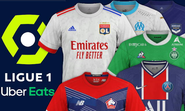 maillots de football L1 2020-2021