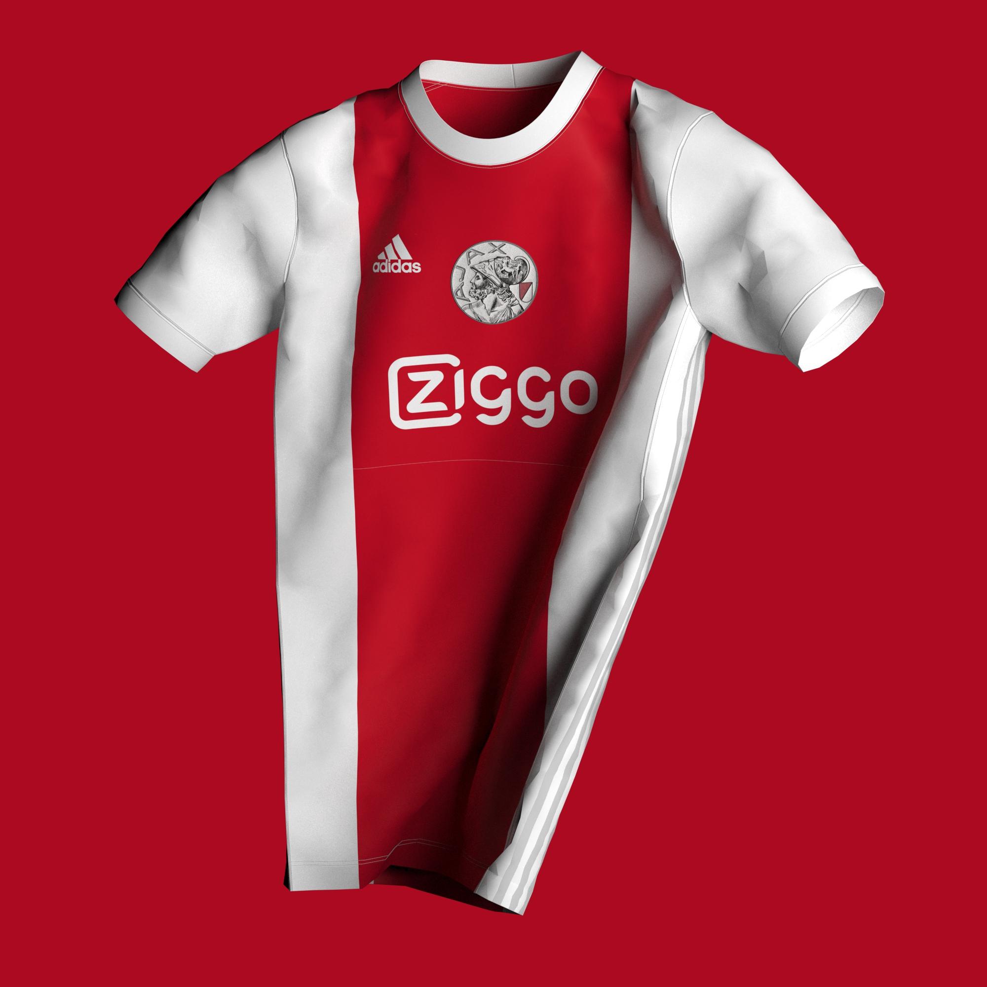 AJAX possible maillot foot domicile 2021 2022