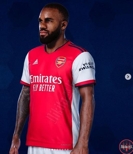 Arsenal 2022 maillot domicile Adidas Lacazette