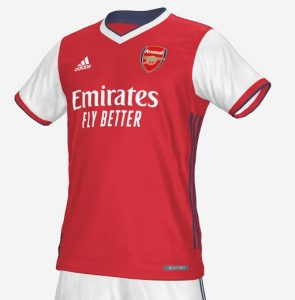 Arsenal 2022 prediction maillot domicile Adidas