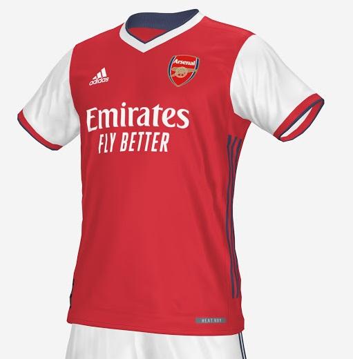 Arsenal 2022 prediction maillot domicile Adidas