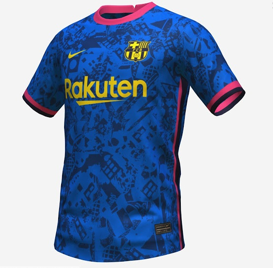Barcelone 2022 troisieme maillot third possible