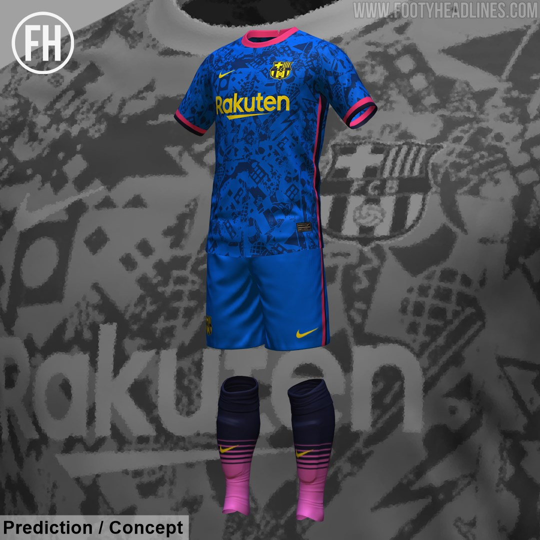 Barcelone 2022 troisieme maillot third prediction