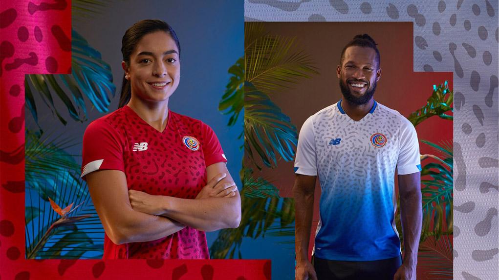 Costa Rica 2021 nouveaux maillots de football