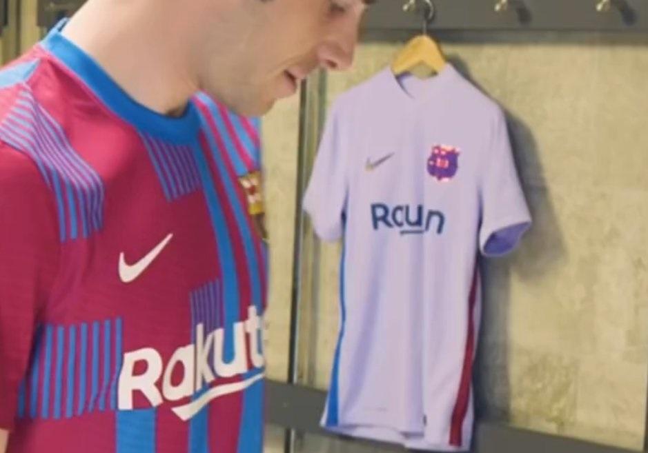 FC Barcelone 2022 fuite maillot exterieur