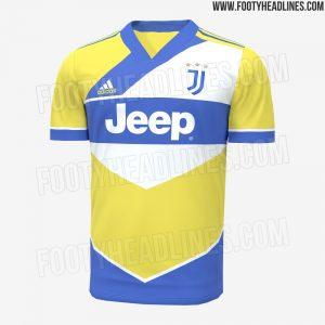 Juventus 2022 prediction maillot domicile third