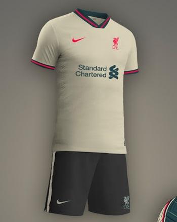 Liverpool 2022 couleurs maillot exterieur prediction