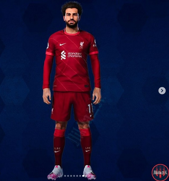 Liverpool 2022 maillot de football domicile Nike Salah