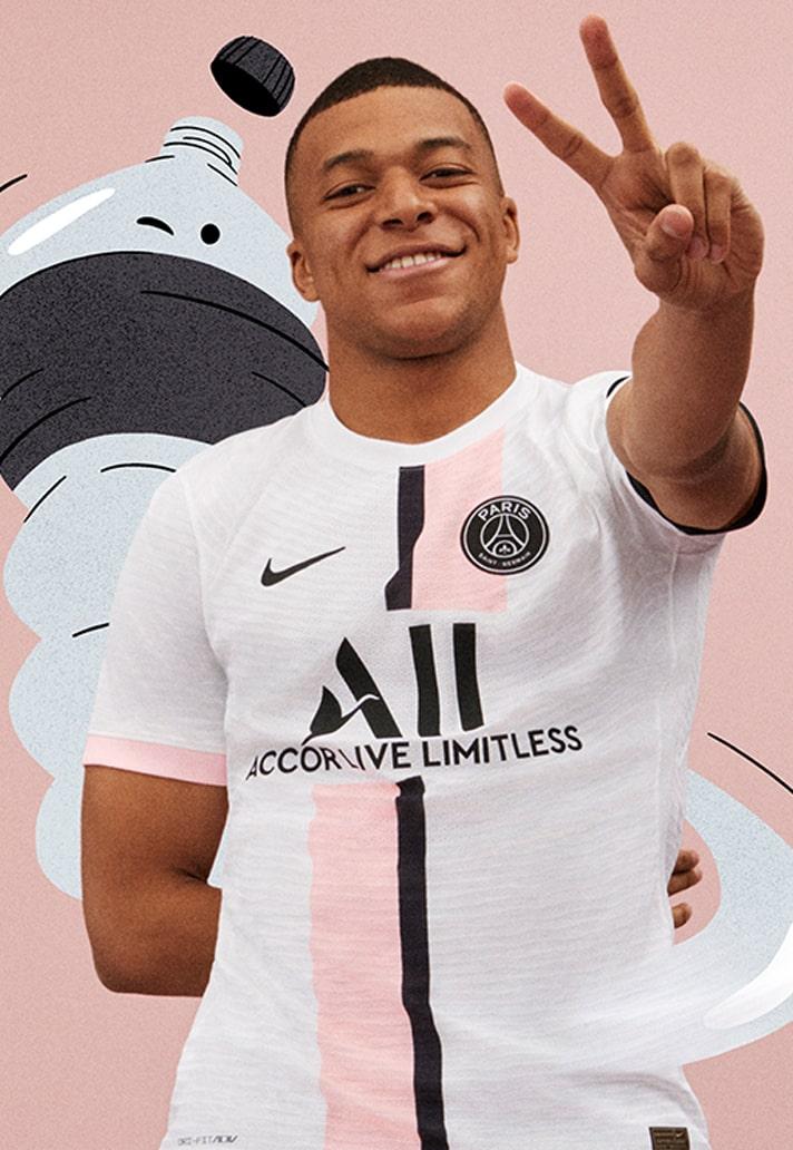 PSG 2022 maillot de football exterieur Nike officiel