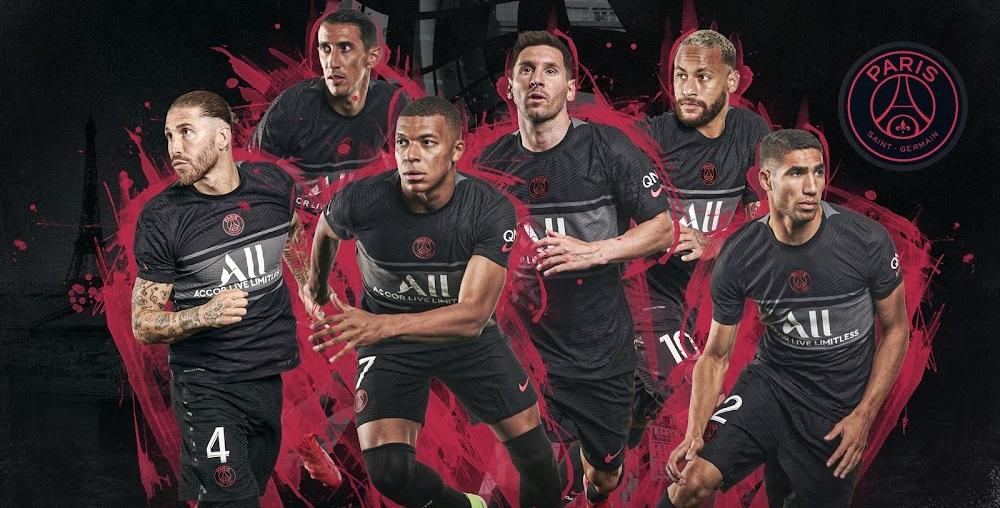 Paris 2022 troisieme maillot third football Paris Saint Germain