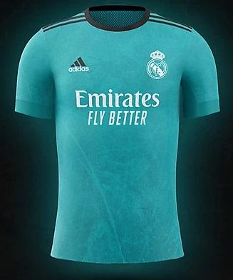 Real Madrid 2022 couleurs trosieme maillot de foot third prediction