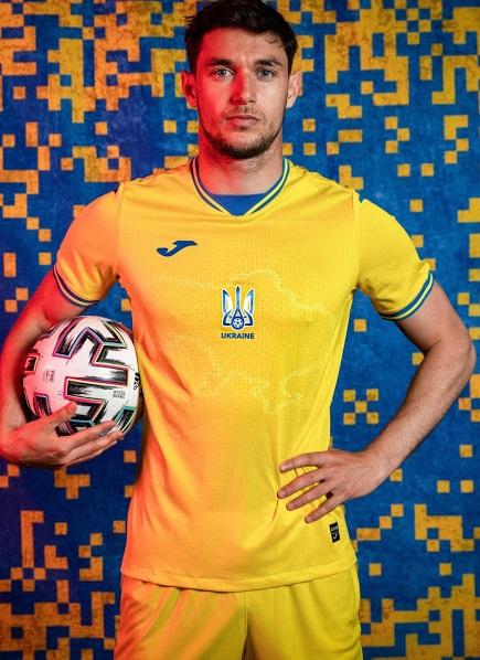 Ukraine Euro 2021 nouveau maillot de foot domicile