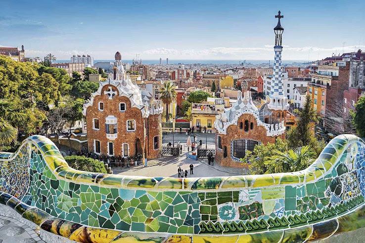 parc barcelone mosaique