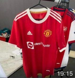 Manchester United 2022 maillot domicile photo