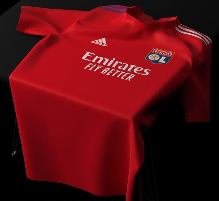 OL 2022 possible maillot exterieur rouge 2021 2022 Lyon