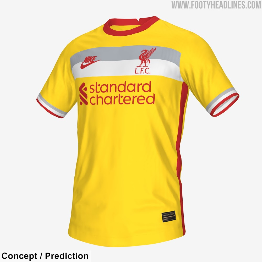 Liverpool 2021 2022 3eme maillot third possible selon couleurs