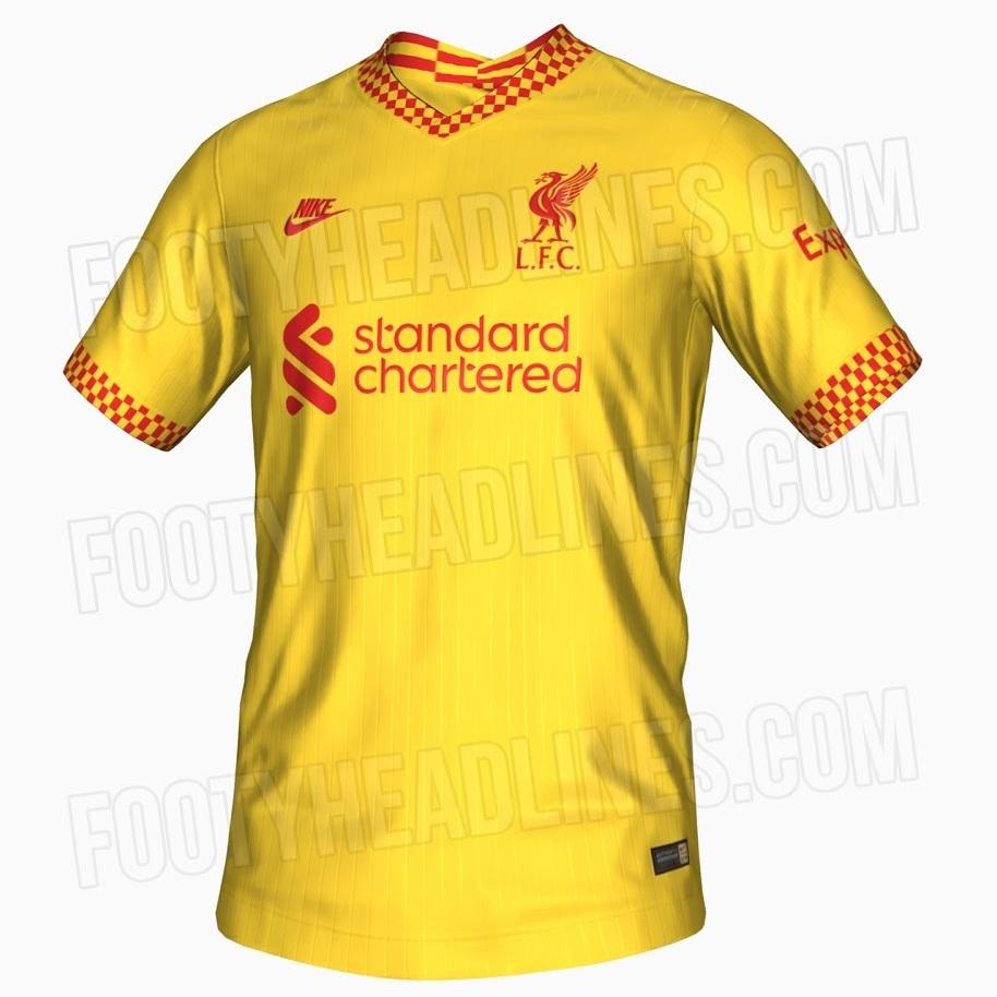 Liverpool 2022 nouveau 3eme maillot third jaune 21 22