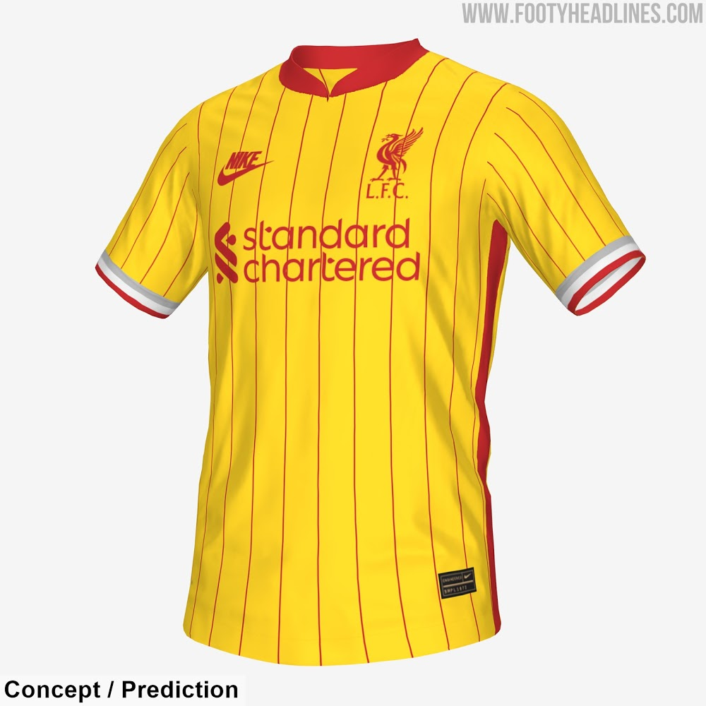 Liverpool 2022 prediction 3eme maillot third possible