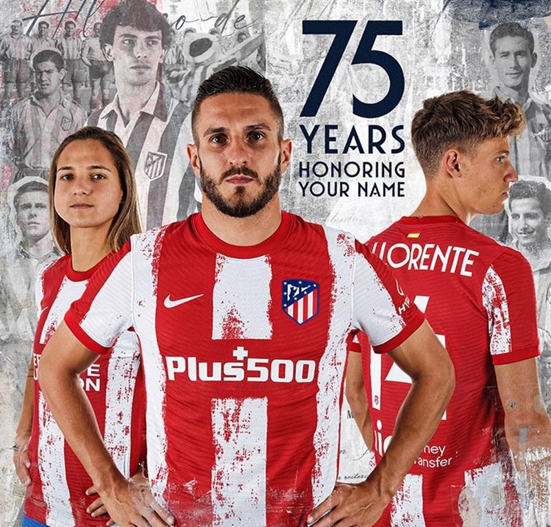 Atletico Madrid 2022 nouveau maillot domicile officiel