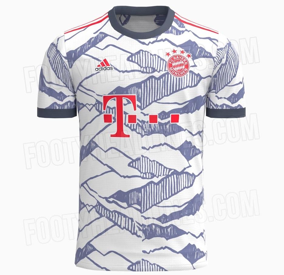 Bayern Munich 2022 troisieme maillot third foot