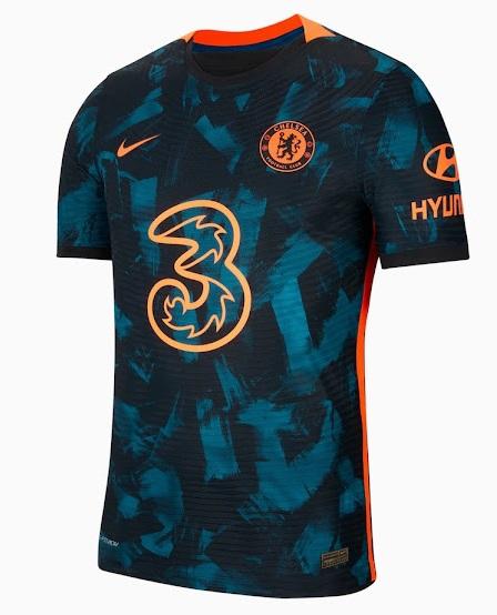 Chelsea 2022 nouveau 3eme maillot third officiel