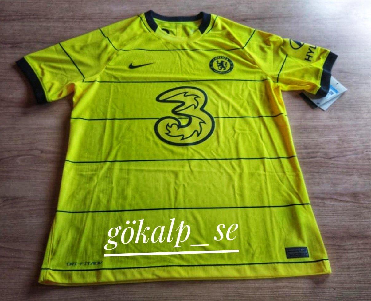Chelsea 2022 nouveau maillot exterieur jaune