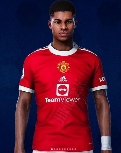 Manchester United 2022 nouveau maillot domicile fuite foot 21 22