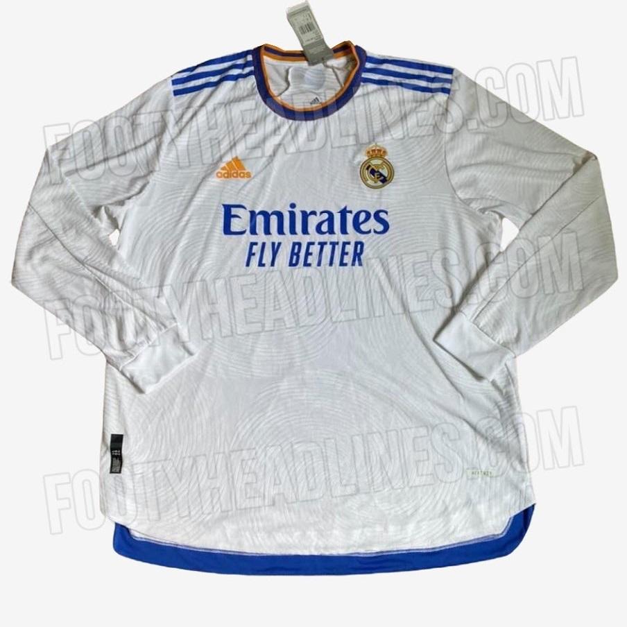Real Madrid 2022 nouveau maillot domicile fuite