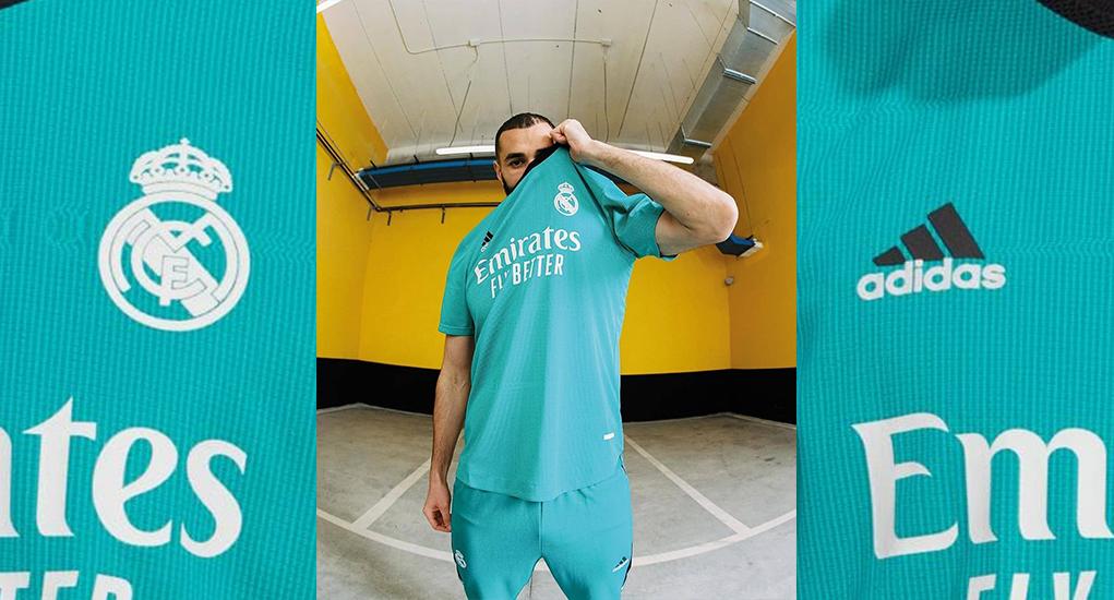 Real Madrid 2022 nouveau maillot third football Adidas