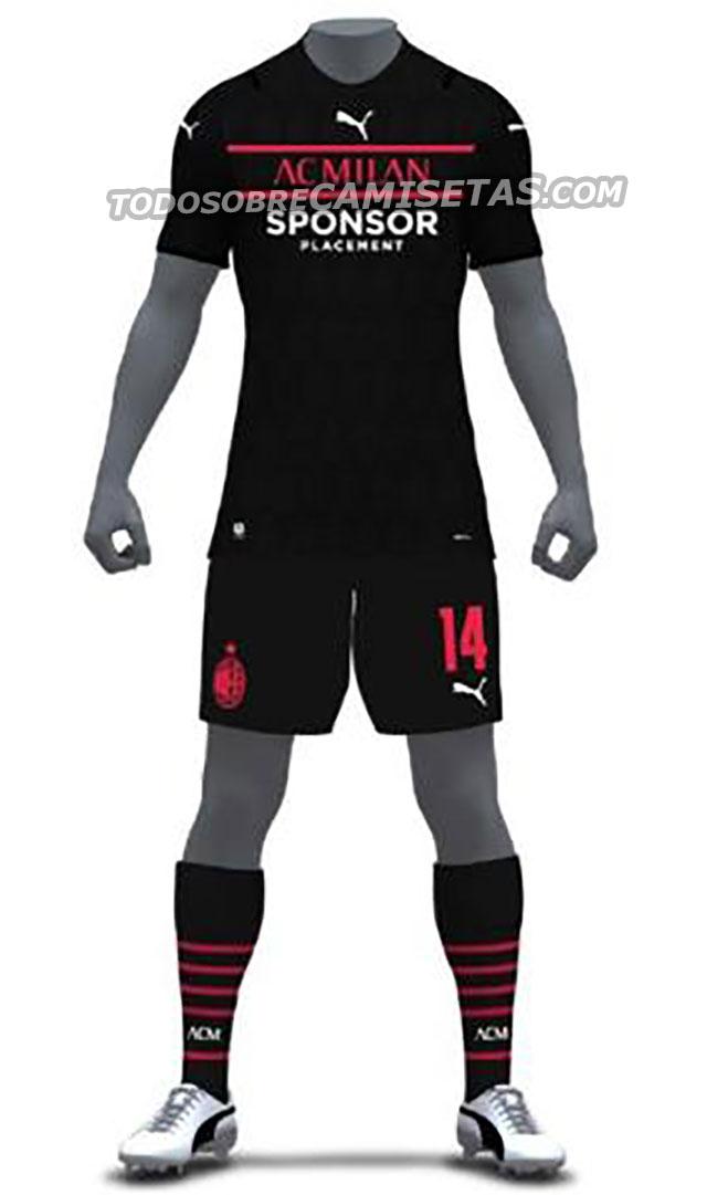 AC Milan 2022 3eme maillot third foot Puma