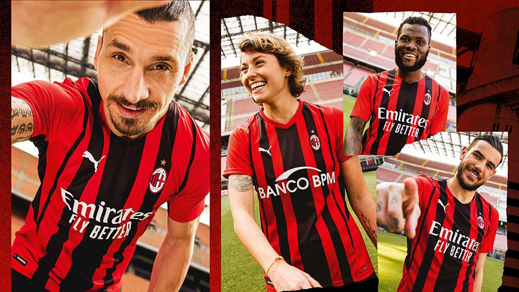 AC Milan 2022 nouveau maillot de foot domicile 2021 2022