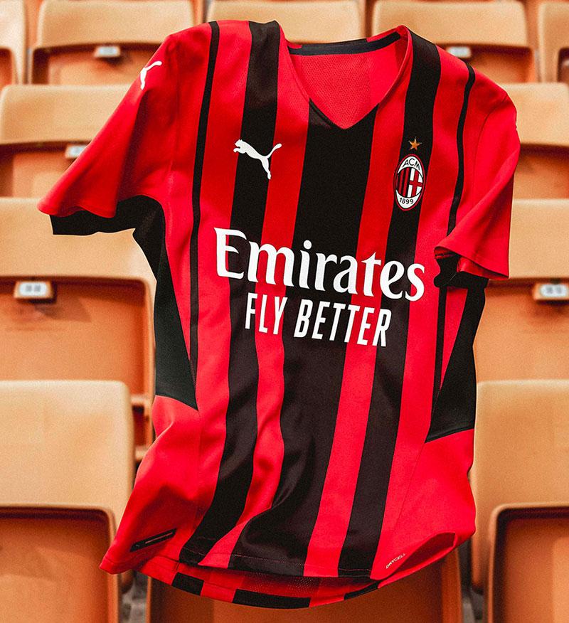 AC Milan 2022 nouveau maillot domicile Puma 21 22