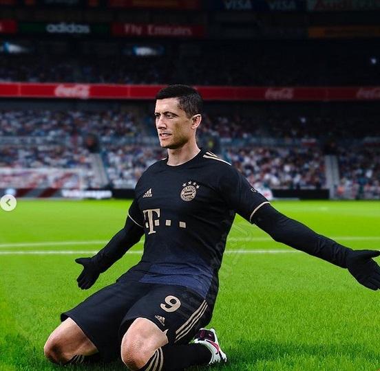 Bayern Munich 2022 maillot de foot exterieur Lewandowski