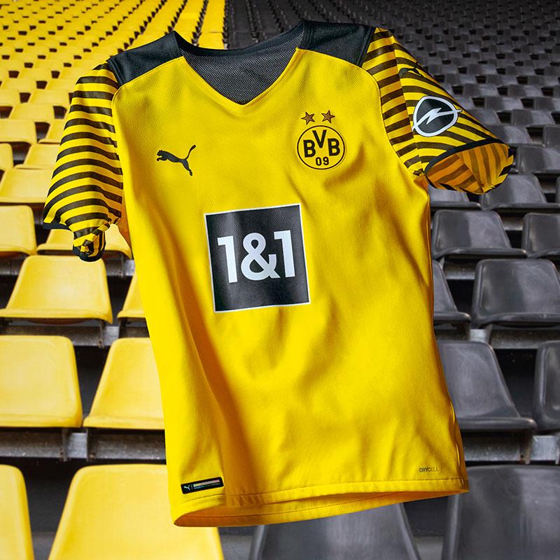 Borussia Dortmund 2021 2022 nouveau maillot domicile foot
