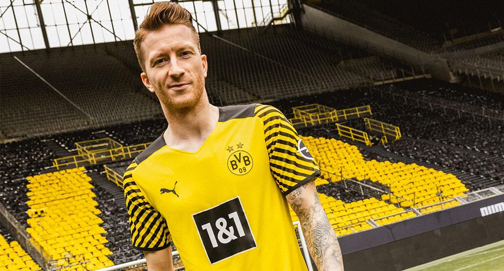 Borussia Dortmund 2022 nouveau maillot domicile officiel REUS