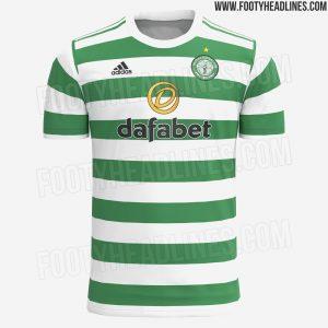 Celtic 2022 maillot de foot domicile prediction