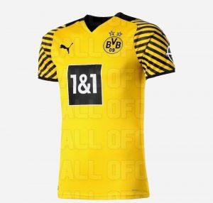 Dortmund 2022 maillot de foot domicile fuite